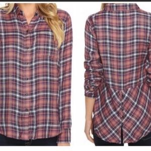 Lucky Brand Bungalow Plaid Flannel Shirt